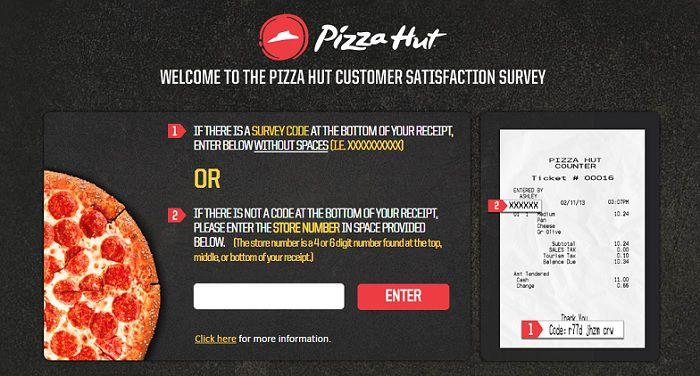 Pizza hut survey page 1