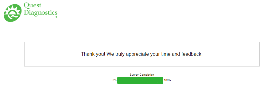 Quest Diagnostics Feedback Survey