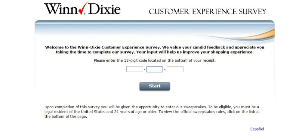 Winn-Dixie Consumer Feedback Survey