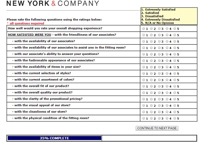 new york & company customer feedback survey 3