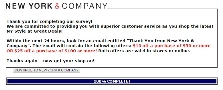 new york & company customer feedback survey 5
