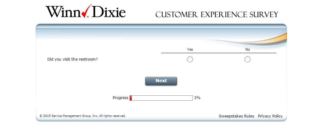 winn dixie customer feedback survey 2