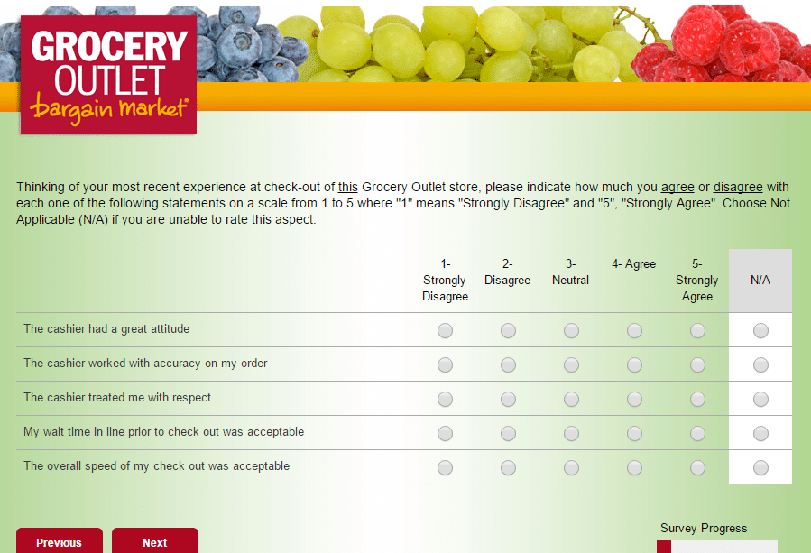 www.go-opinion.com Grocery Outlet Survey p 9