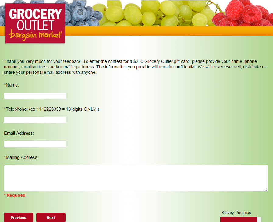 Grocery Outlet Survey www.go-opinion.com page 23