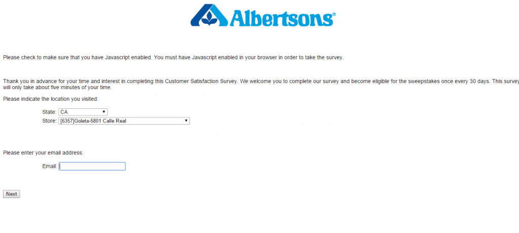albertsons surveycustomer survey report
