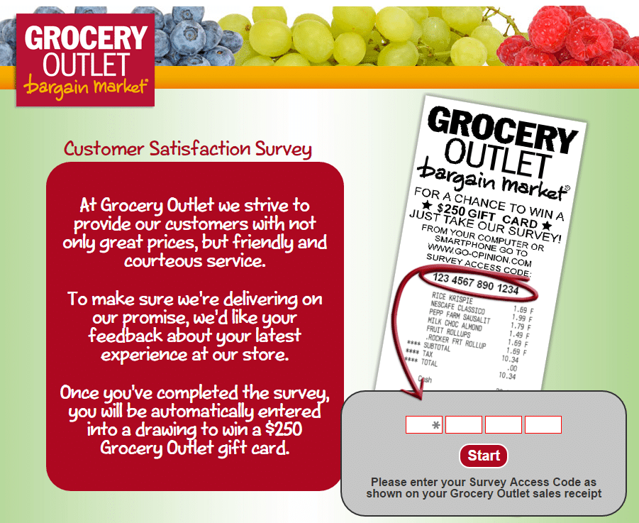www.go-opinion.com grocery outlet survey page 2
