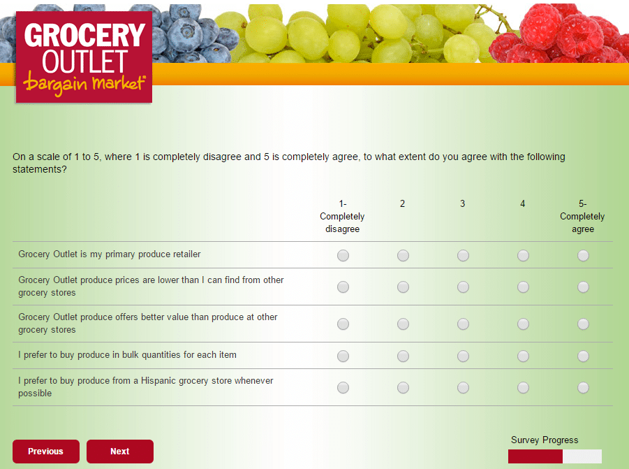 grocery outlet survey page 18