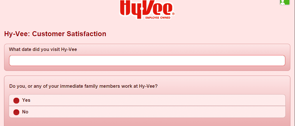 hy vee survey page 1