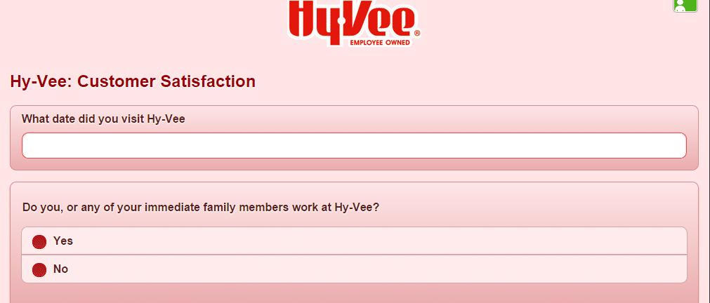 hy vee survey page 1