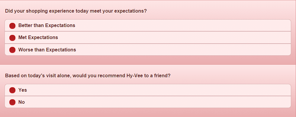 hy vee survey page 6
