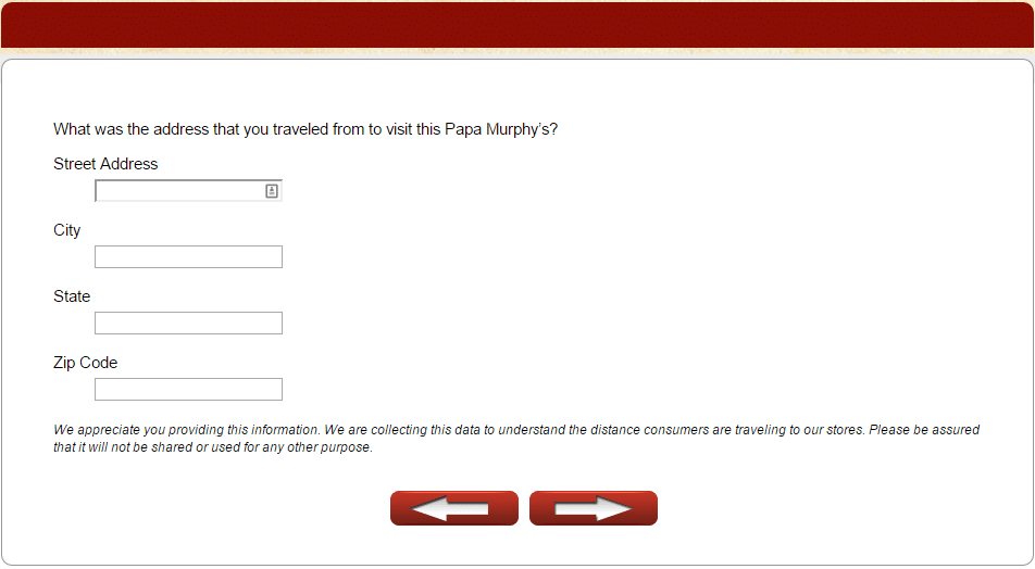 info collected by papa murphy's survey