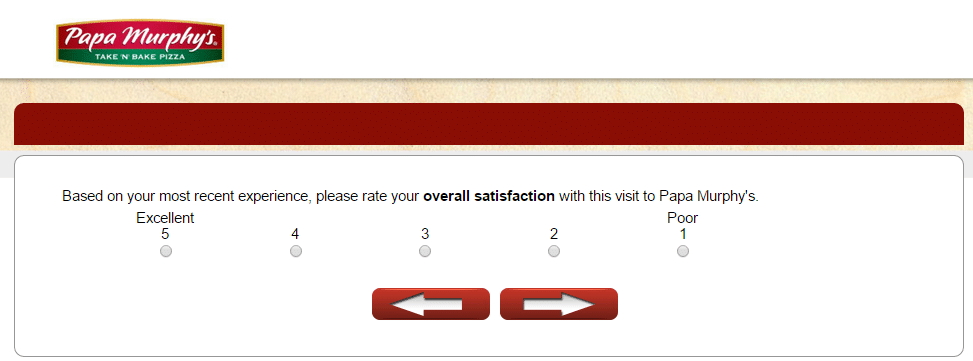 rate satisfaction page papa murphy's survey