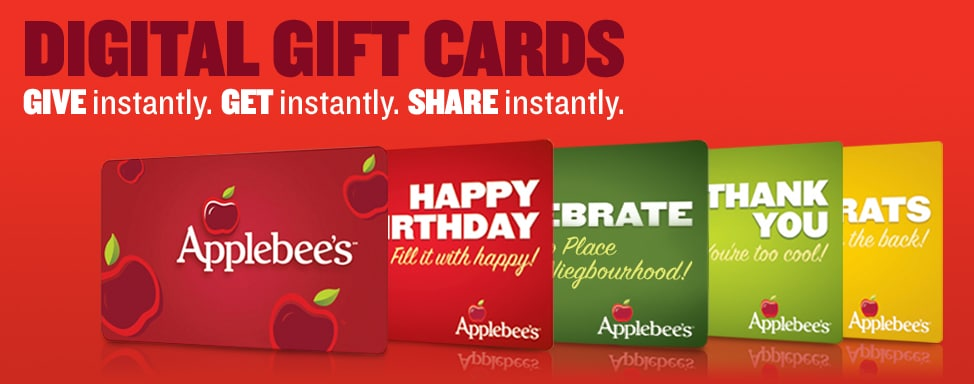 applebees gift card desing