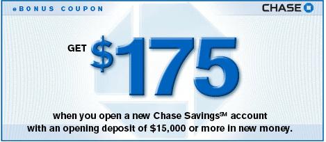 bonus coupon for chase savings account