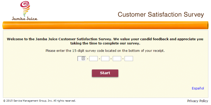 Tell Jamba Customer Satisfaction Survey