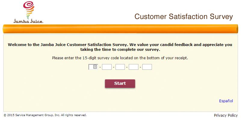 Tell Jamba Customer Satisfaction Survey