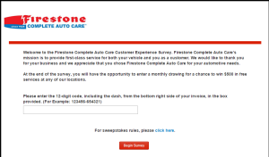 firestone survey page 1