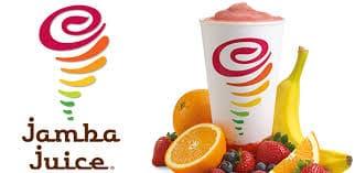 jamba juice logo and smoothie presentation