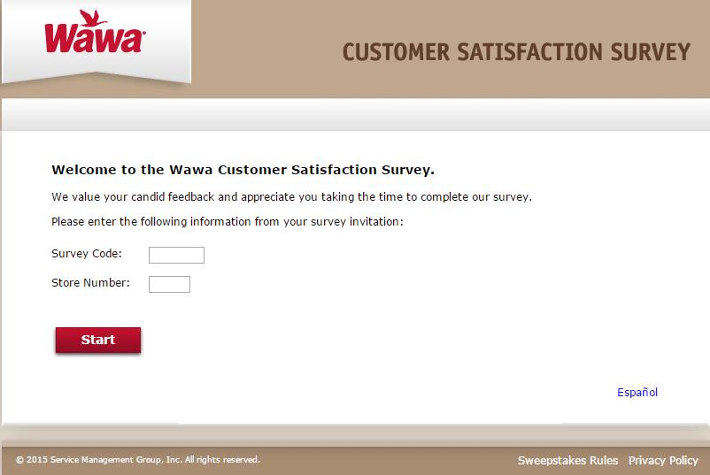 my wawa customer satisfaction survey page 1
