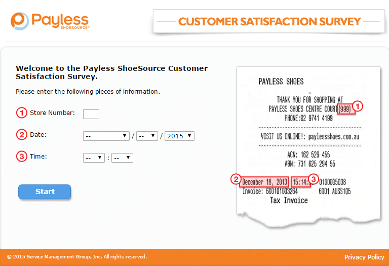 payless survey page 2