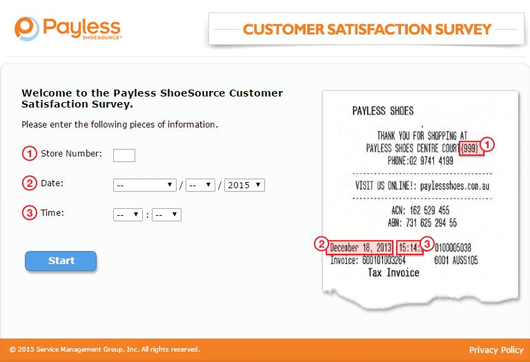 payless survey page 2