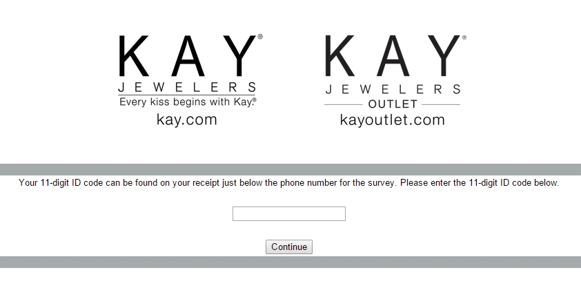 Kay Jewelers Customer Service Survey page 1