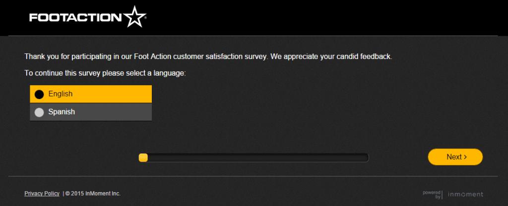 Footaction Customer Satisfaction survey www.footactionsurvey.com