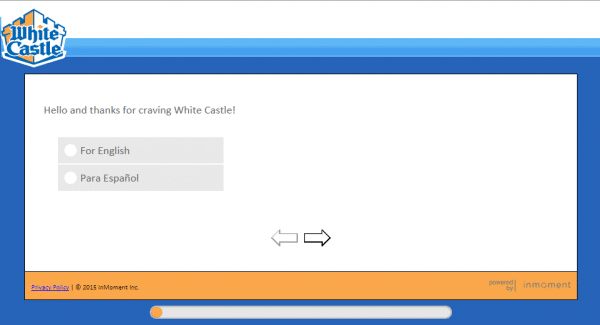 white castle survey page one