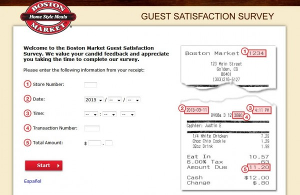 boston market survey page 1