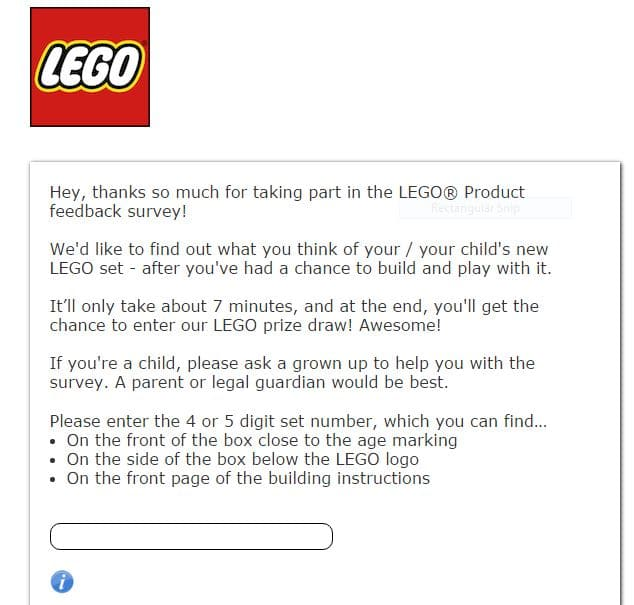 Lego Survey screenshot