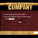 screenshot of taco bueno survey