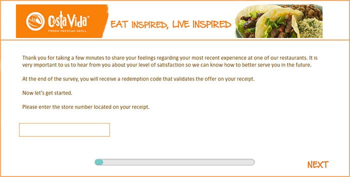 Costa Vida Survey