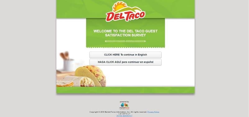 del taco survey screenshot