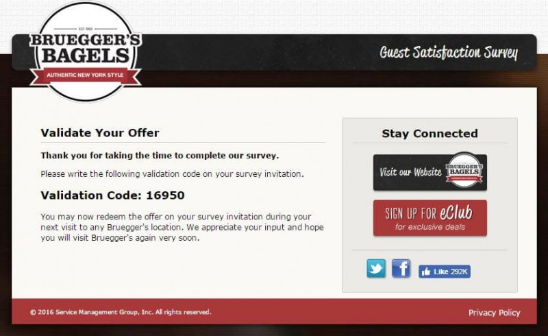 brueggers survey end page
