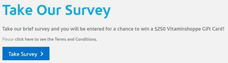 introduction to vitamin shoppe survey