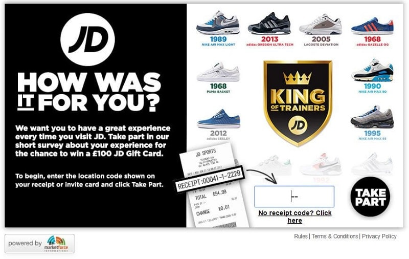 JD sports survey age 1
