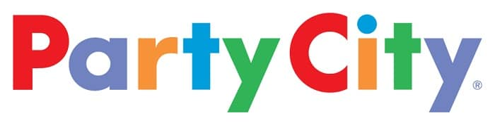 wide logo of the party city store chain