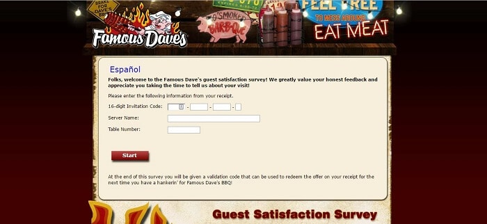 screencap of the famous daves survey