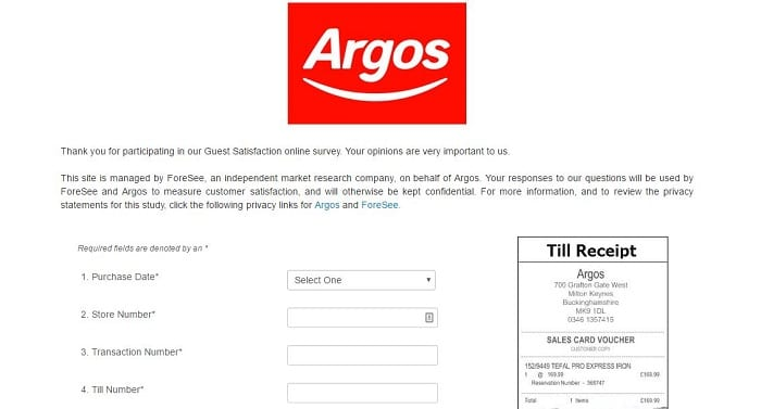 agos survey screenshot