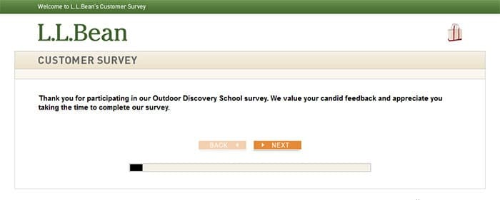 ll bean survey