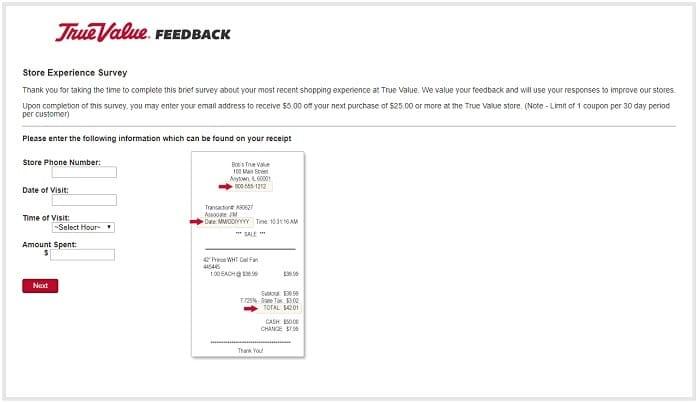 true value survey