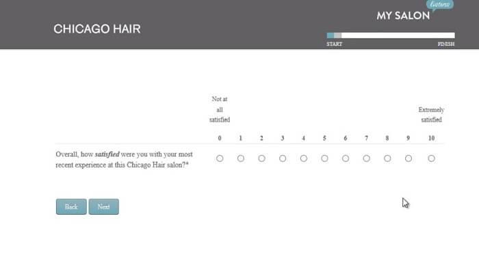 Regiscorp Survey screenshot