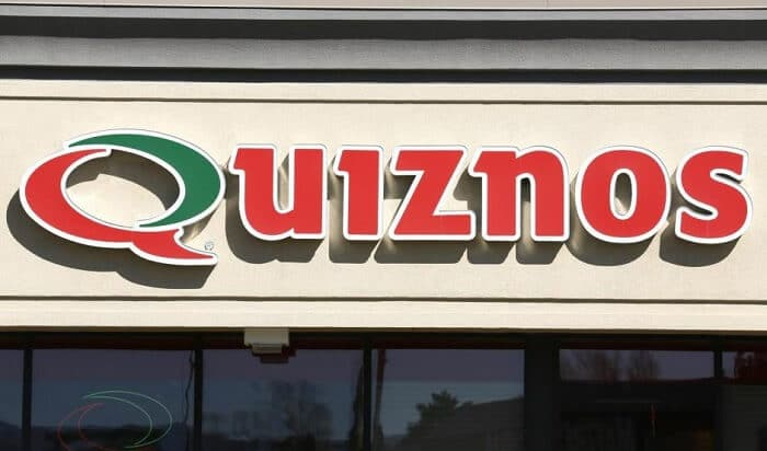 Quiznos logo on the shop front