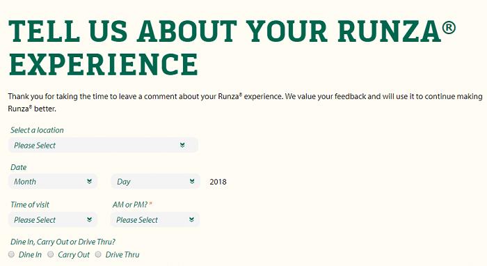 Runza survey