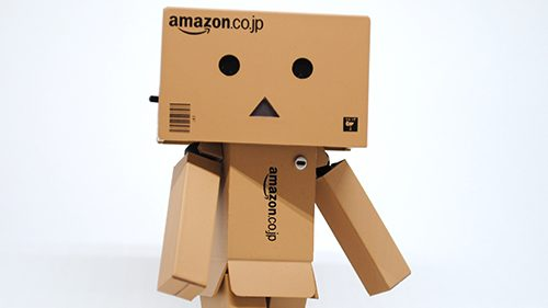Photo of an Amazon box toy